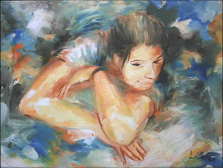 lalitha-bandaru-introspection-oil-on-canvas-painting-ek-15-0044-ol-0026-12x16
