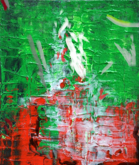 green-red-abstract-textured-painting-modern-art-strength-by-chakramoon-belinda-capol