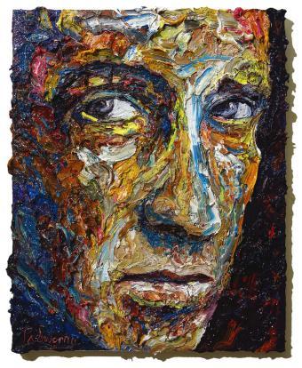 impressionist-art-male-model-portrait-original-oil-painting-on-canvas-for-sale-abstract-art-ideas-david-padworny